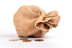 argent de sac Image stock