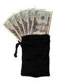 argent de sac Images stock