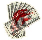 Argent de sang Image libre de droits