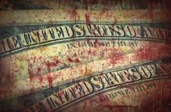 Argent de sang, dollars US Images stock