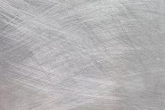 Argent de texture balayé par métal industriel, fond de haute résolution en aluminium balayé image stock