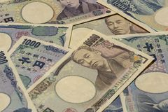 Argent 14 de Yens japonais photo libre de droits