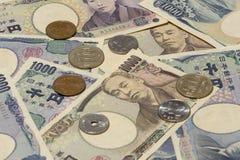Argent 15 de Yens japonais photo libre de droits