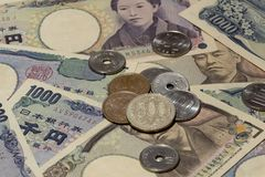 Argent 17 de Yens japonais images libres de droits