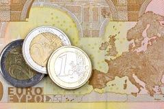 Argent de zone euro Photographie stock libre de droits