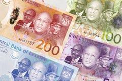 Argent du Lesotho un fond