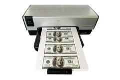 argent effectuant à la maison Photographie stock