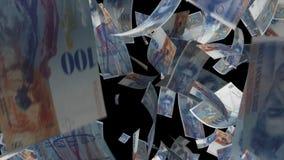 Argent en baisse de la Suisse banque de vidéos