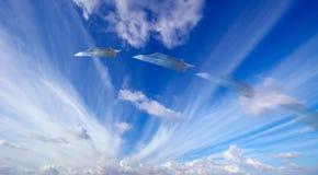 Argent et avions Photos libres de droits