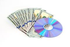Argent et CD Image stock