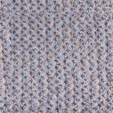 Argent et fond et texture tricotés par bleu Photographie stock libre de droits