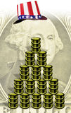 Argent et pétrole américains Image libre de droits