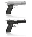 Argent et pistolet automatique de noir Image libre de droits