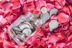 Argent et roses Photographie stock libre de droits