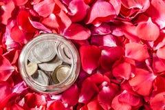 Argent et roses Images libres de droits