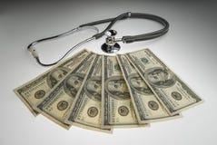 Le coût de soins de santé Images stock