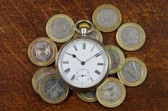 Argent et temps Images stock