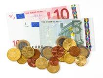 Argent - euro Photo libre de droits