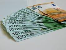 Argent, euro, bateau, argent liquide, factures Images stock