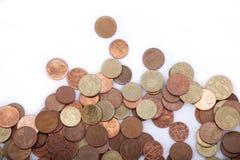 Argent - euro pièces de monnaie Images libres de droits