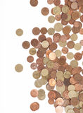 Argent - euro pièces de monnaie Photographie stock libre de droits