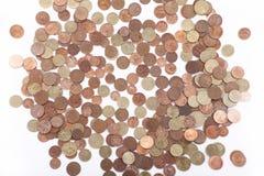 Argent - euro pièces de monnaie Photo stock