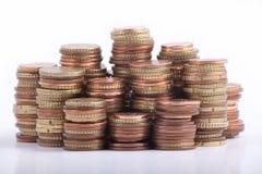 Argent - euro pièces de monnaie Photo libre de droits