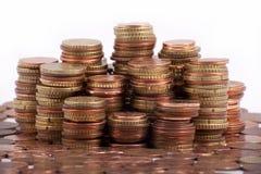 Argent - euro pièces de monnaie Image stock