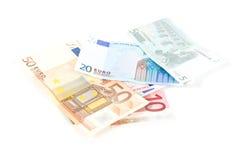 argent européen Image stock