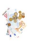 argent européen Photos libres de droits