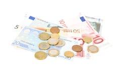 argent européen Photographie stock