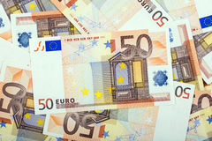 Argent européen, un fond Images stock