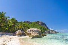 Argent ` för Anse källa D, Seychellerna Royaltyfri Foto