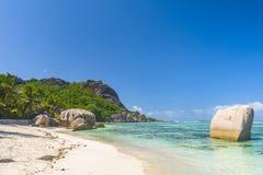 Argent ` för Anse källa D, Seychellerna Royaltyfri Fotografi