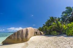 Argent ` för Anse källa D, Seychellerna Royaltyfria Bilder