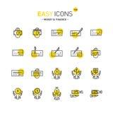 Argent facile des icônes 13d Images libres de droits