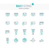 Argent facile des icônes 12e Image stock