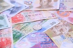 Argent, factures et pièces de monnaie Image libre de droits