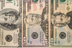 argent financier Etats-Unis des dollars de concept de fond Images libres de droits