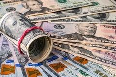 argent financier Etats-Unis des dollars de concept de fond Photo stock