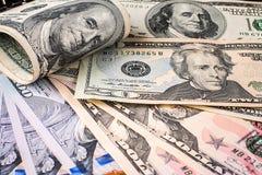 argent financier Etats-Unis des dollars de concept de fond Photos stock