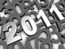 Argent fond de 2011 ans illustration stock