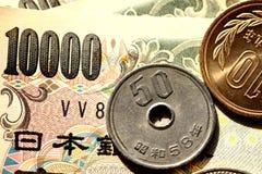 Argent japonais photographie stock libre de droits