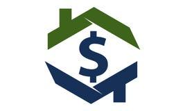 Argent liquide à la maison Logo Design Template Images libres de droits