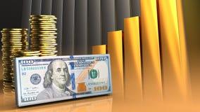 argent liquide 3d Image stock