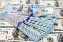 Argent liquide de billet de banque américain des dollars Image stock