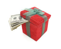 Argent liquide de cadeau Photos stock