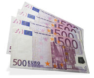 Argent liquide de l'euro cinq cents 500 Photo stock