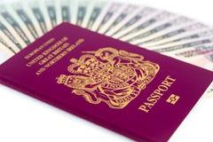 Argent liquide de passeport Photo libre de droits