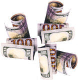 Argent liquide et argent liquide déposés dans les comptes bancaires des déposants photographie stock